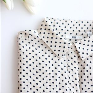 UNIQLO Polka Dots Silk Shirt